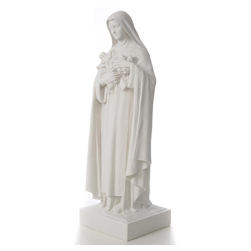 Saint Therese, 100 cm reconstituted marble statue 6