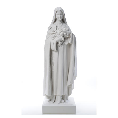 Saint Therese, 100 cm reconstituted marble statue 11