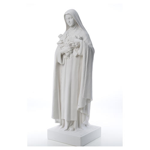 Saint Therese, 100 cm reconstituted marble statue 12