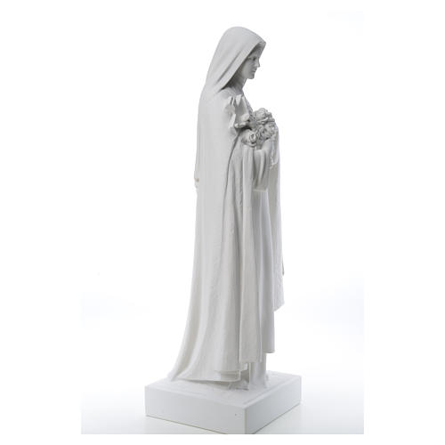 Saint Therese, 100 cm reconstituted marble statue 14