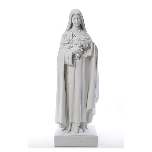 Saint Therese, 100 cm reconstituted marble statue 2
