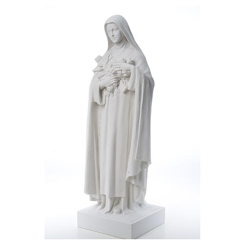 Saint Therese, 100 cm reconstituted marble statue 3