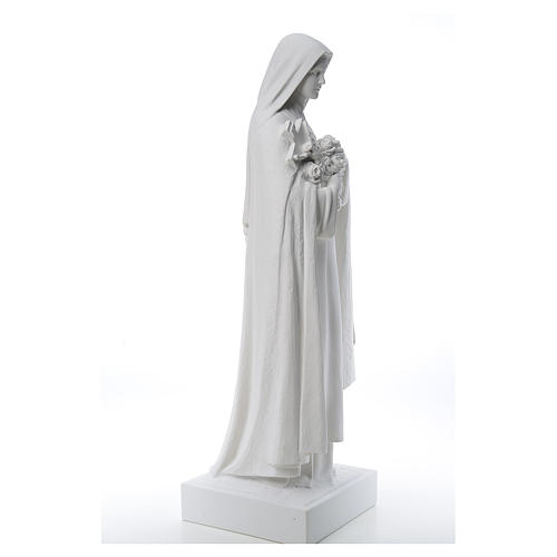 Saint Therese, 100 cm reconstituted marble statue 5