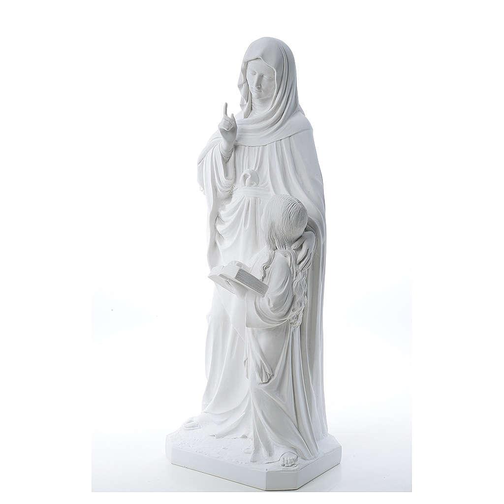 Statue Sainte Anna poudre de marbre 80 cm 4