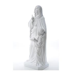 Statue Sainte Anna poudre de marbre 80 cm s10