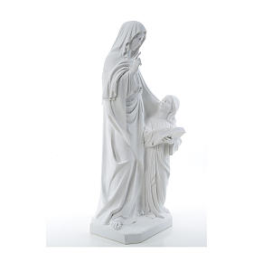 Statue Sainte Anna poudre de marbre 80 cm s4