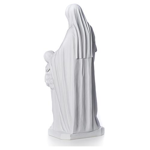 Statue Sainte Anna poudre de marbre 80 cm 7