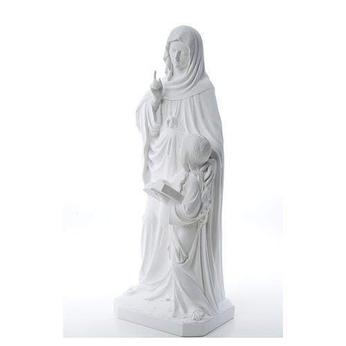 Statue Sainte Anna poudre de marbre 80 cm 10