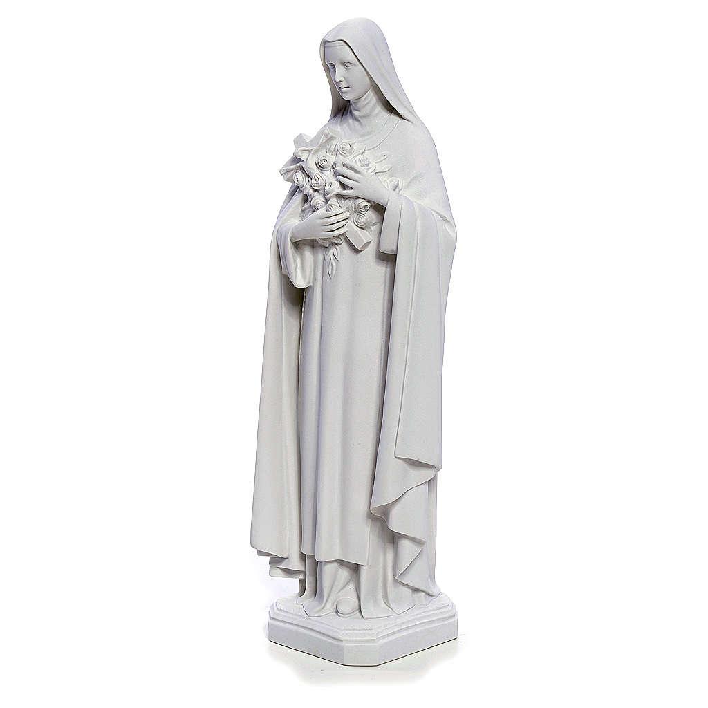 Estatua Santa Teresa 40cm mármol blanco 4
