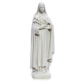 Estatua Santa Teresa 40cm mármol blanco s1