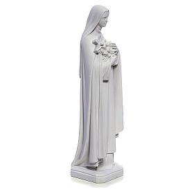 Estatua Santa Teresa 40cm mármol blanco s4