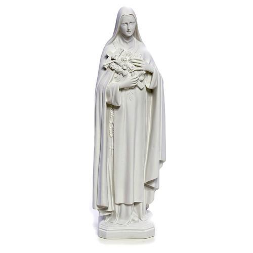 Estatua Santa Teresa 40cm mármol blanco 1