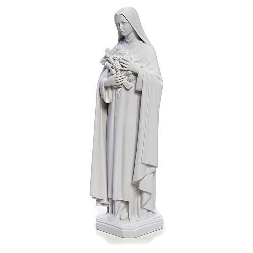Estatua Santa Teresa 40cm mármol blanco 2