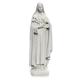 Statua Santa Teresa 40 cm marmo bianco