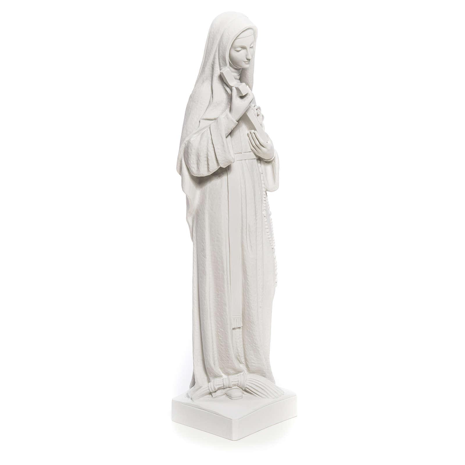Estatua Santa Rita polvo de mármol blanco 62 cm 4