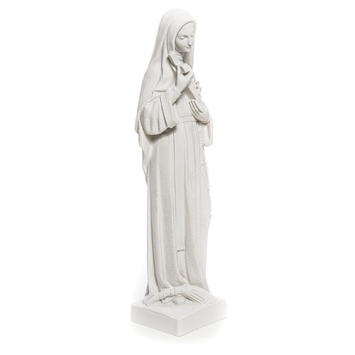 Estatua Santa Rita polvo de mármol blanco 62 cm 8