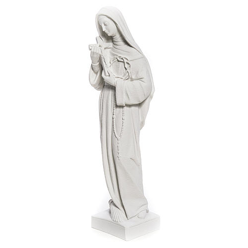 Estatua Santa Rita polvo de mármol blanco 62 cm 2