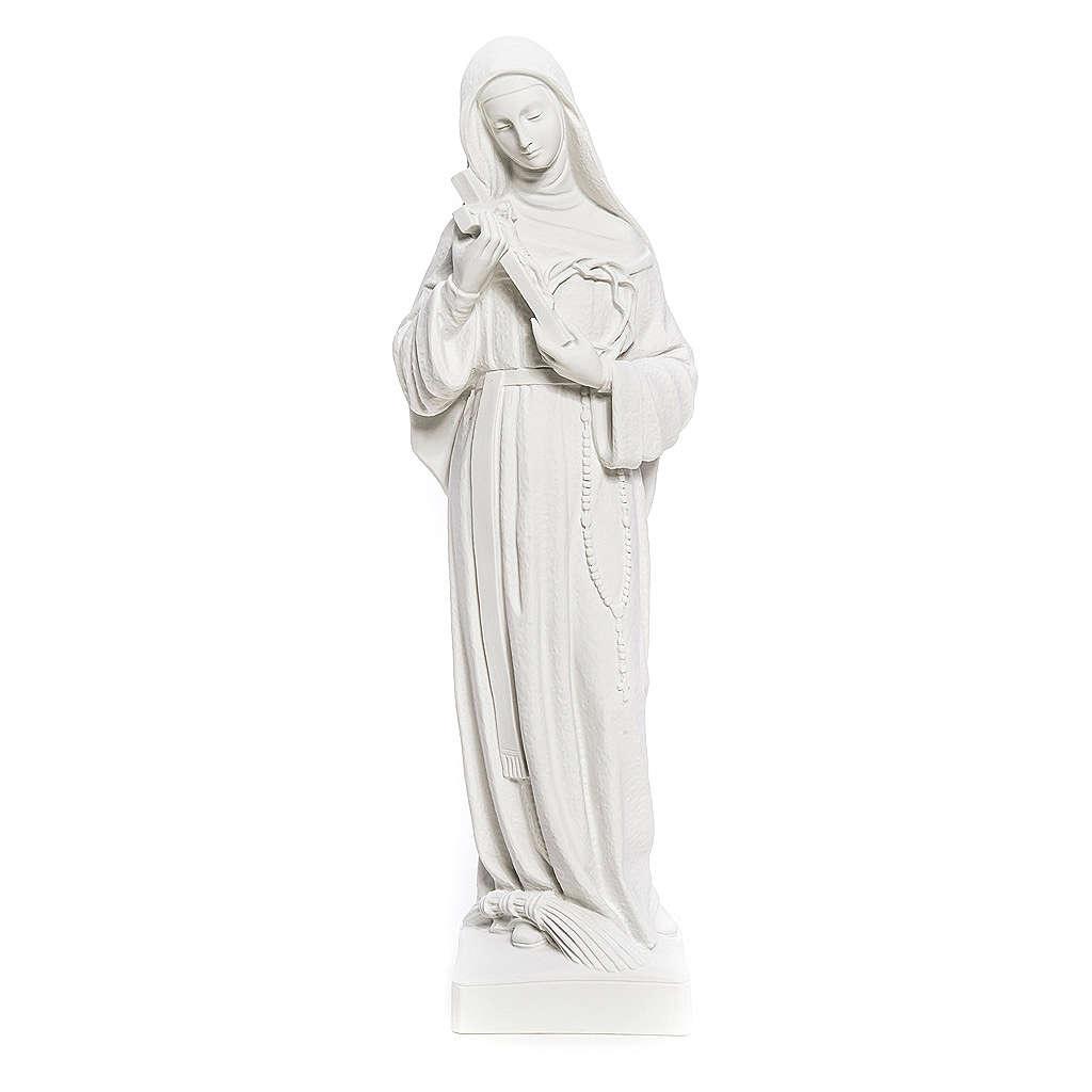 Statue Sainte Rita poudre de marbre blanc 62 cm 4