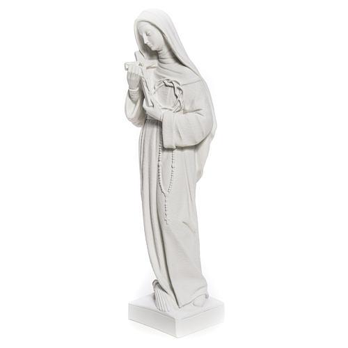 Statue Sainte Rita poudre de marbre blanc 62 cm 6