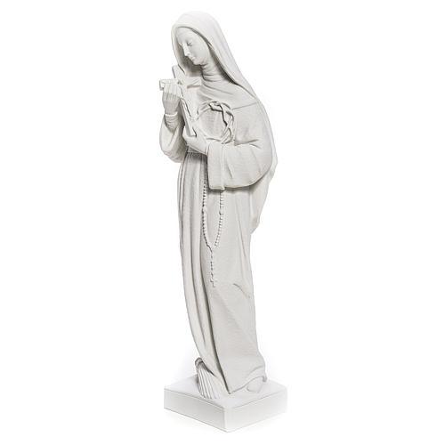 Statue Sainte Rita poudre de marbre blanc 62 cm 2