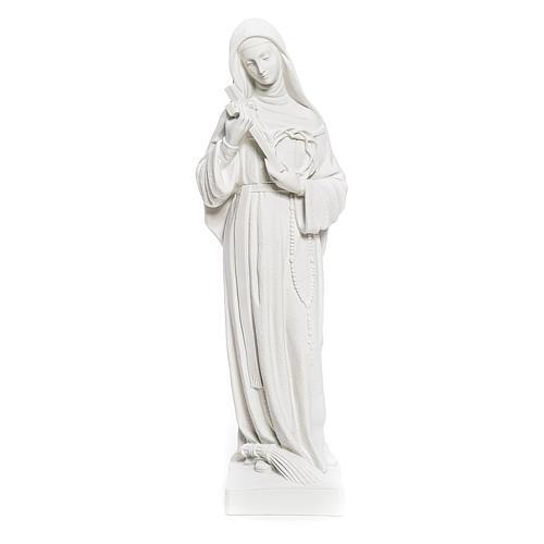 Statua Santa Rita polvere di marmo bianco 62 cm 1
