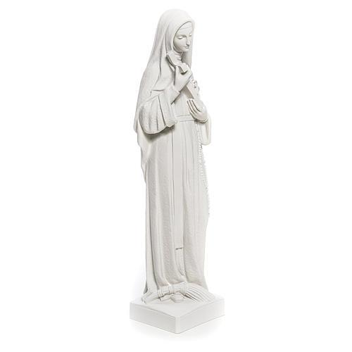 Statua Santa Rita polvere di marmo bianco 62 cm 4