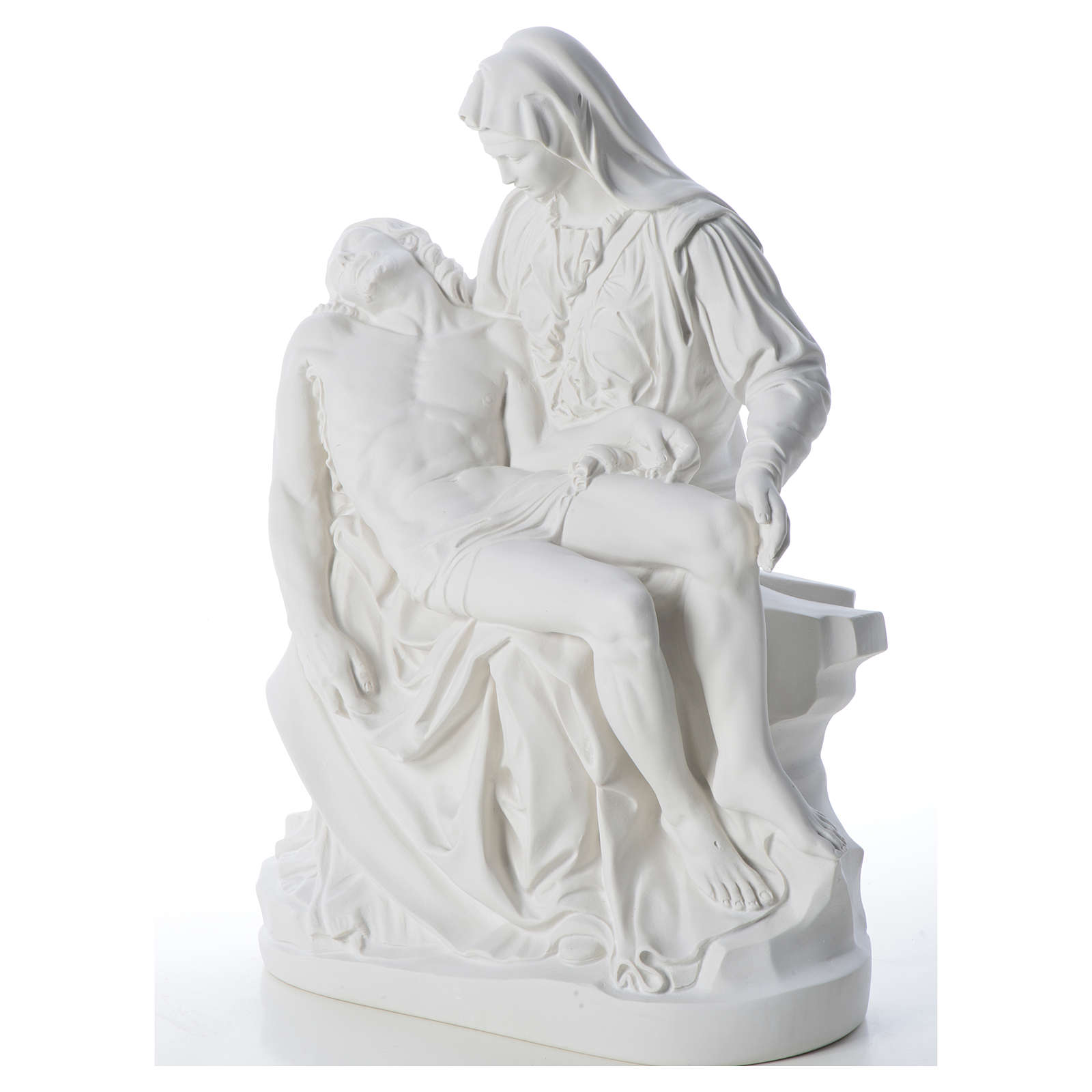Pietà statue made of reconstituted marble 53 cm 4