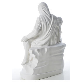 Pietà statue made of reconstituted marble 53 cm s7