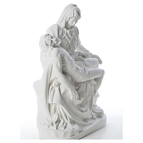 Pietà statue made of reconstituted marble 53 cm s8