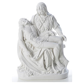 Pietà statue made of reconstituted marble 53 cm s1