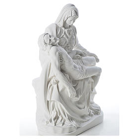 Pietà statue made of reconstituted marble 53 cm s4