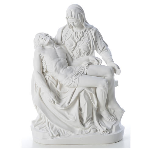 Pietà statue made of reconstituted marble 53 cm 5