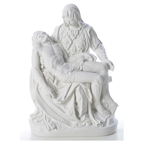 Pietà statue made of reconstituted marble 53 cm 1