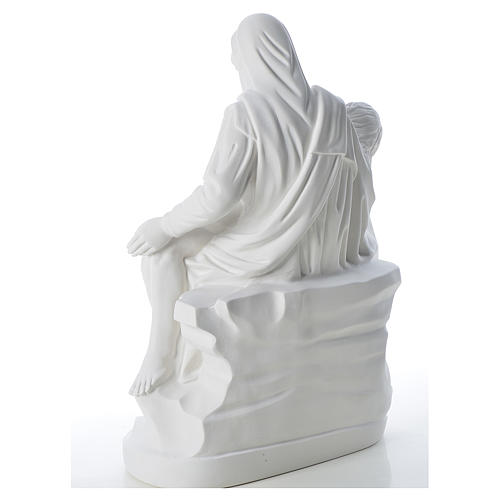 Pietà statue made of reconstituted marble 53 cm 3