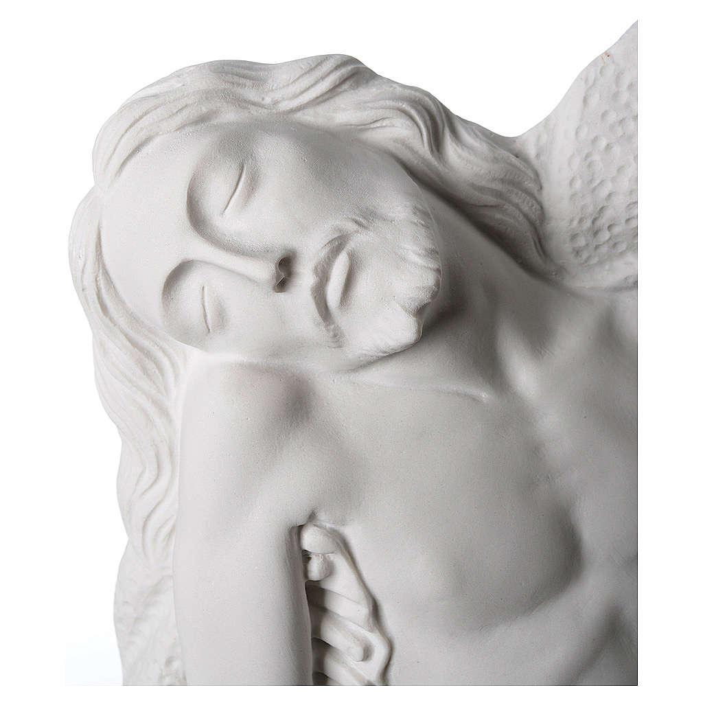 Pietà di Michelangelo targa marmo sintetico bianco 65-90 cm 3