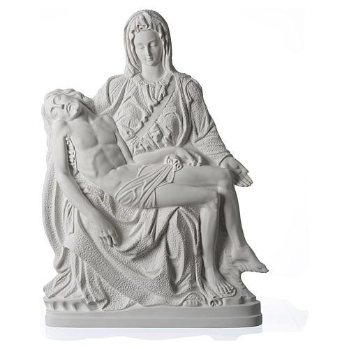 Pietà di Michelangelo targa marmo sintetico bianco 65-90 cm 1