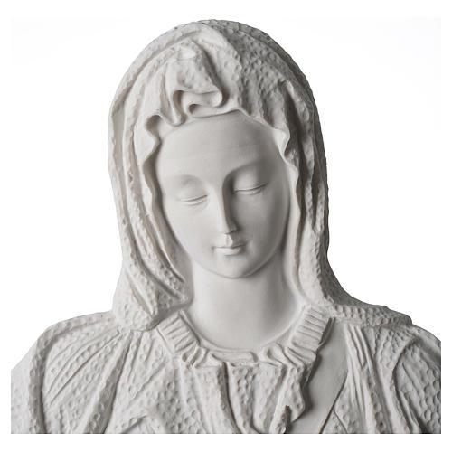 Pietà di Michelangelo targa marmo sintetico bianco 65-90 cm 2
