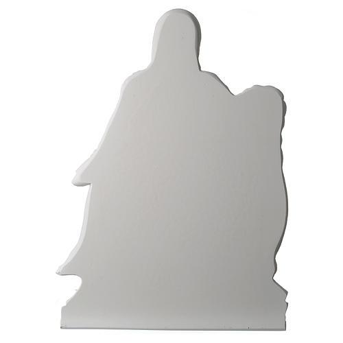 Pietà di Michelangelo targa marmo sintetico bianco 65-90 cm 4