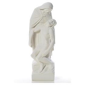 Pietà statua marmo bianco sintetico 60-80 cm s5