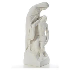 Pietà statua marmo bianco sintetico 60-80 cm s8