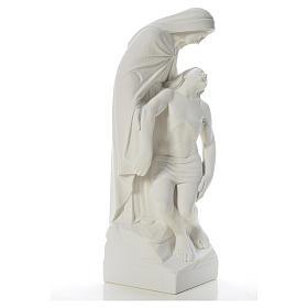 Pietà statua marmo bianco sintetico 60-80 cm s4