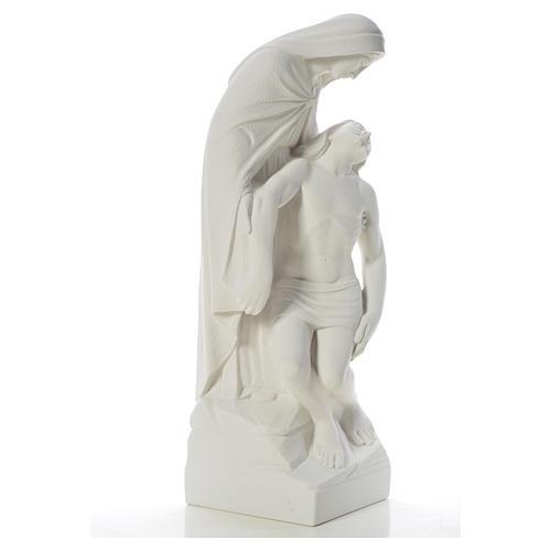 Pietà statua marmo bianco sintetico 60-80 cm 8