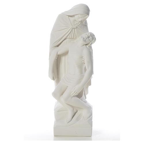 Pietà statua marmo bianco sintetico 60-80 cm 1