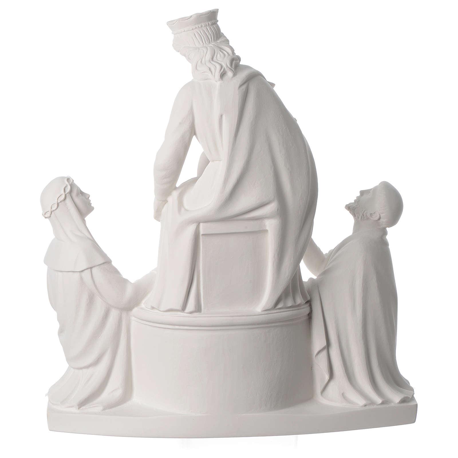 Statue Notre Dame de Pompéi marbre 50 cm 4