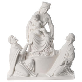 Statue Notre Dame de Pompéi marbre 50 cm s1