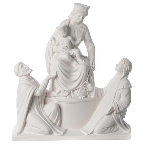 Statue Notre Dame de Pompéi marbre 50 cm 1