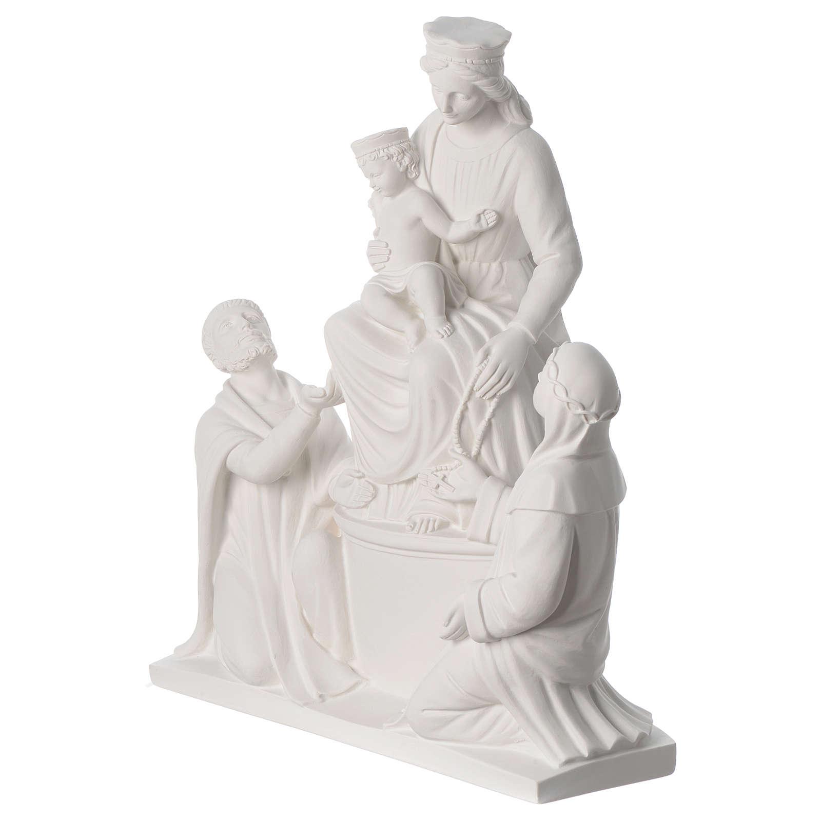Madonna di Pompei 50 cm statua in marmo 4