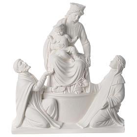 Madonna di Pompei 50 cm statua in marmo s1