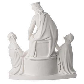 Madonna di Pompei 50 cm statua in marmo s4