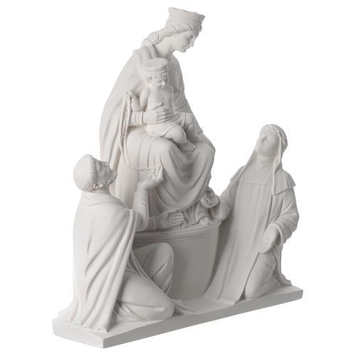 Madonna di Pompei 50 cm statua in marmo 3